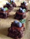Flourless Brownies with Mint Chocolate Ganache