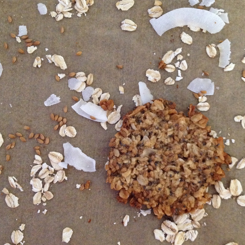 Oatmeal & Flaxseed Lace Cookies