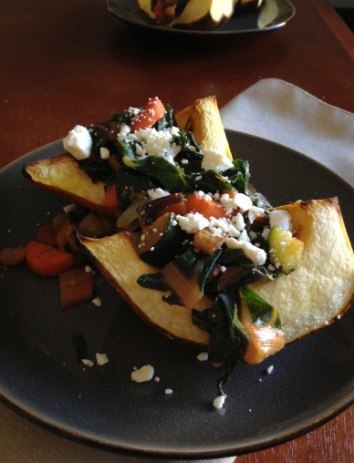 Roasted Acorn Squash with Mixed Vegetables
