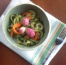 Zucchini Noodles with Roasted Radishes
